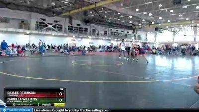 132 lbs Round 2 (4 Team) - Baylee Peterson, Tennessee vs Isabella Williams, Black Mambas Blue