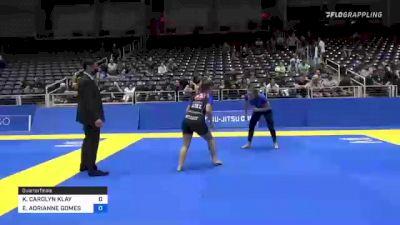 KEANNA CAROLYN KLAY vs EMILY ADRIANNE GOMES VASCONCELOS 2021 World IBJJF Jiu-Jitsu No-Gi Championship