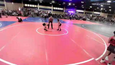 57 lbs Semifinal - Matthew Campos, Red Wave vs Jossiah Mercado, Top Dog WC
