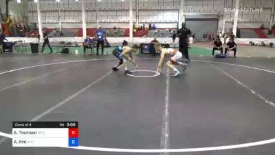 61 kg Consolation - Alex Thomsen, Nebraska Wrestling Training Center vs Angelo Rini, New York City RTC