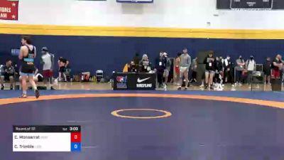 74 kg Round Of 32 - Christian Monserrat, New England Regional Training Center vs Christian Trimble, Lion Wrestling Club