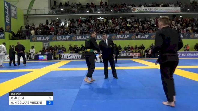 PETRI AHOLA vs ANDY NICOLAAS VIRGENIE PETERS 2020 European Jiu-Jitsu IBJJF Championship