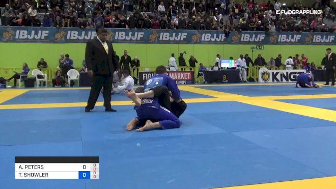 ANDY PETERS vs THOMAS SHOWLER 2019 European Jiu-Jitsu IBJJF Championship