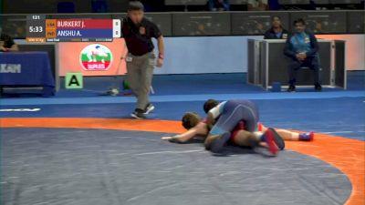 57 kg Semifinal - Jenna Burkert, USA vs Anshu Anshu, IND