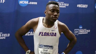 Grant Holloway Gives Action Packed Two Minute Interview After Hurdle Win