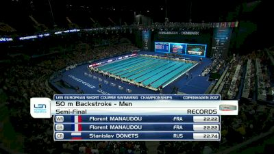 Euro SC Champs, Men 50m Back Semifinal 1