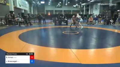 97 kg Quarterfinal - Braxton Amos, Wisconsin Regional Training Center vs Joey Braunagel, Illinois Regional Training Center/Illini WC