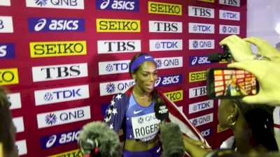 Raevyn Rogers Gets Silver With Late Rush