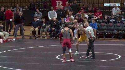 197lbs - Jordan Pagano (Rutgers) vs Mike Guyer (Pitt-Johnstown)
