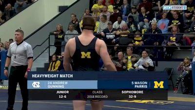 285lbs Match: Mason Parris (Michigan) vs Andrew Gunning (North Carolina)