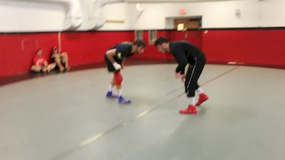 Yianni Diakomihalis Drilling With Vito Arujau The Night Before Final X Rutgers