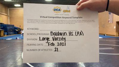 Baldwin High School [Large VA] 2021 UCA February Virtual Challenge