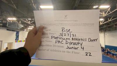 Platinum Athletics - PAC Dynasty [L4 Junior - Small] 2021 The Regional Summit Virtual Championships