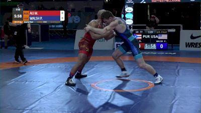 77KG QF, Peyton Burke WALSH, USA vs Marciano George ALI, PUR