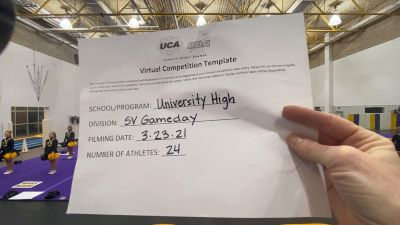 University High School [Game Day Varsity] 2021 UCA & UDA March Virtual Challenge