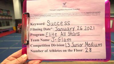 Elite All Stars - J-Glam [L3 Junior - Medium] 2021 Athletic Championships: Virtual DI & DII