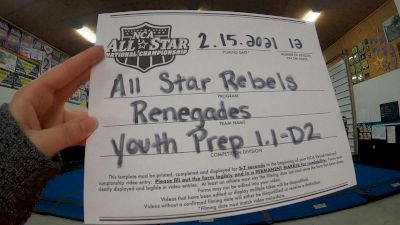 All Star Rebels - Renegades [L1.1 Youth - PREP - D2] 2021 NCA All-Star Virtual National Championship
