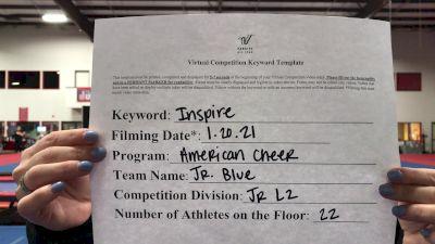American Cheer - Junior Blue [L2 Junior - Small] 2021 GSSA DI & DII Virtual Championship