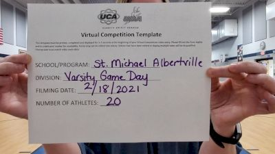 St Michael Albertville High School [Game Day Large Varsity] 2021 UCA February Virtual Challenge