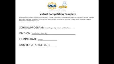 Ronald Reagan High School [Game Day - Junior Varsity] 2021 UDA South Spring Virtual Dance Challenge