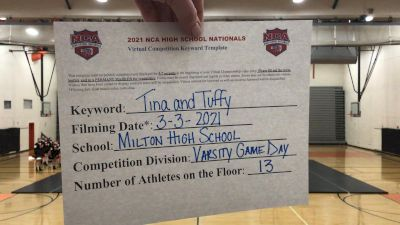 Milton High School [Game Day Varsity] 2021 NCA High School Nationals