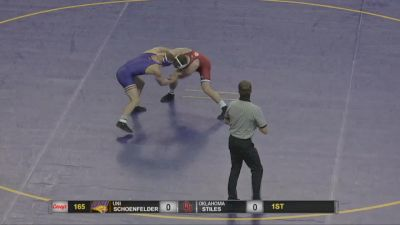 165 lbs - Pat Schoenfelder, UNI vs Jake Stiles, Oklahoma