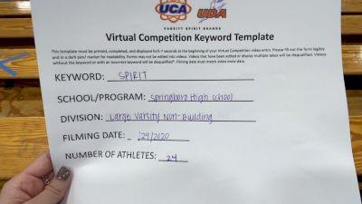Springboro High School [Large Varsity Non Building] 2020 UCA Miami Valley Virtual Regional