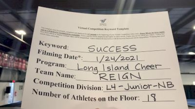 Long Island Cheer - Reign [L4 Junior - Non Building] 2021 Athletic Championships: Virtual DI & DII