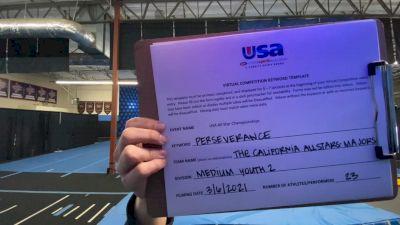 The California All Stars - Livermore - Majors [L2 Youth - Medium] 2021 USA All Star Virtual Championships