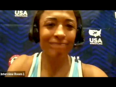 Victoria Anthony (50 kg) after winning challenge tournament at 2021 Olympic Trials