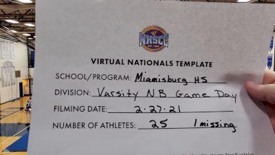 Miamisburg High School [Virtual Varsity Non Building Game Day Finals] 2021 UCA National High School Cheerleading Championship