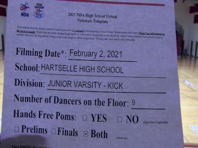 Hartselle High School [Virtual Junior Varsity - Kick Prelims] 2021 NDA High School National Championship
