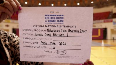 Midwestern State University [Virtual Small Coed Division I Semi Finals] 2021 UCA & UDA College Cheerleading & Dance Team National Championship
