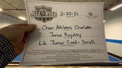 Cheer Athletics - Junior Royalty [L6 Junior Coed - Small] 2021 NCA All-Star Virtual National Championship