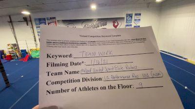 Millard United Sports - Spirit Elite Rubies [L1 Performance Recreation - 10 & Younger (NON)] 2021 Varsity Recreational Virtual Challenge II
