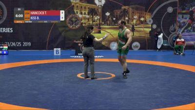 97kg Semifinal: G'Angelo Hancock (USA) vs Balazs Kiss (HUN)