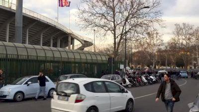Fiorentina Fans Arrive To Honor Davide Astori At Coppa Italia