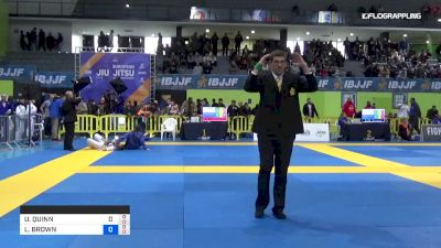 U. Quinn vs L. Brown 2019 IBJJF European Championship