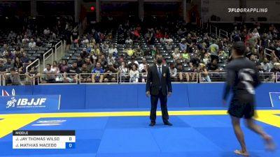 JAY JAY THOMAS WILSON vs JOSE MATHIAS MACEDO DE LIRA LUNA 2021 World IBJJF Jiu-Jitsu No-Gi Championship