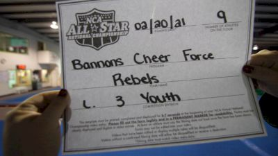 Bannons Cheer Force - REBELS [L3 Youth - D2 - Small] 2021 NCA All-Star Virtual National Championship