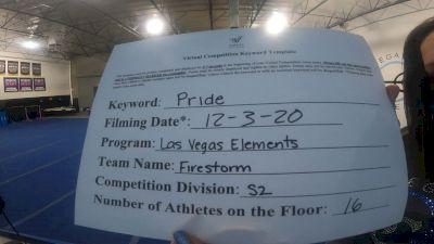 Las Vegas Elements - Firestorm [L2 Senior - D2] 2020 WSF All Star Cheer & Dance Virtual Championship