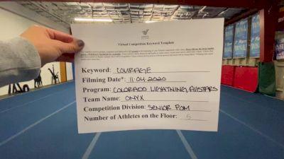 Colorado Lightning Athletics - Onyx [All Star Senior - Pom - Small] Varsity All Star Virtual Competition Series: Event III