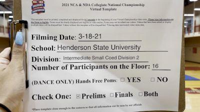 Henderson State University [Intermediate Small Coed Division II Virtual Prelims] 2021 NCA & NDA Collegiate Cheer & Dance Championship