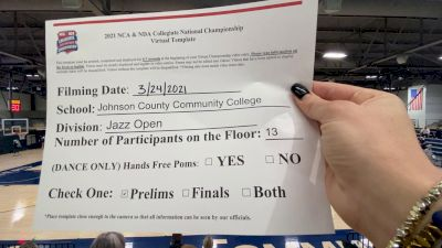 Johnson County Community College [Virtual Jazz Open Prelims] 2021 NCA & NDA Collegiate Cheer & Dance Championship