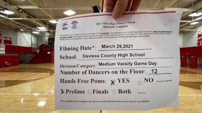 Daviess County High School [Virtual Varsity - Game Day - Medium Prelims] 2021 NDA High School National Championship