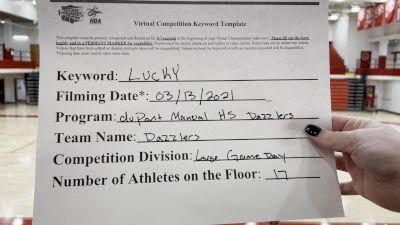 Dupont Manual High School - Dazzlers [Varsity - Game Day] 2021 NCA & NDA Virtual March Championship