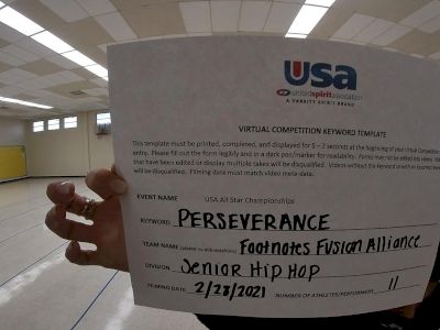 Footnotes Fusion - Senior Hip Hop [Senior - Hip Hop] 2021 USA All Star Virtual Championships