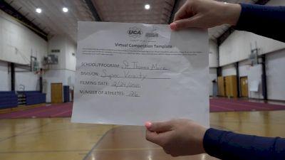 St Thomas More Catholic School [Super Varsity Virtual Finals] 2021 UCA National High School Cheerleading Championship