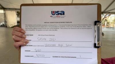 Westlake High School [Open - Solo] USA Spirit & Dance Virtual National Championships