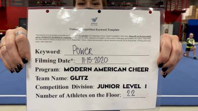 Modern American Cheer - Glitz [L1 Junior - D2 - Small] Varsity All Star Virtual Competition Series: Event V